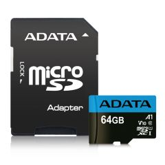 Adata AUSDH64GUICL10A1RA1, 64GB Micro SDXC/SDHC UHS10 WITH ADAPTER with Adapter