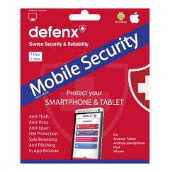 DefenX 1USR1YRMS, Mobile Security, Android + IOS, 1 User, 1 Year