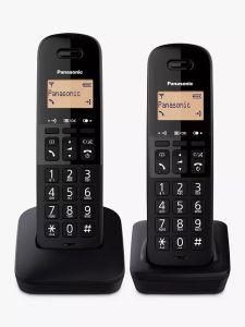 Panasonic TLB612T, Twin Dect Cordless Phone, Black