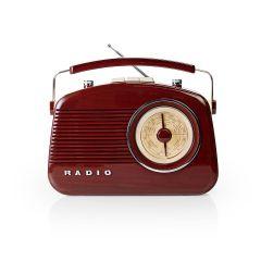 Konig 292134, Retro FM/AM Radio, Burgundy