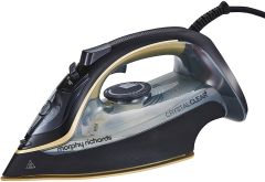 Morphy Richards 300302, 2400W, 30G Steam Output, Steam Iron, Cystal Clear Black/Gold