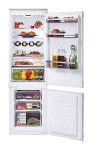 Hoover H-FRIDGE 300 HBBS100UKN, 70/30, Integrated Fridge Freezer, White