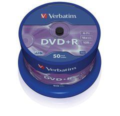 Vertatim 43550, 4.7GB, 16x, DVD+R, 50 Pack Blank DVDs
