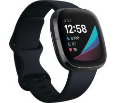 Fitbit 79FB512BKBK, Sense Heath & Activity Fitness Tracker, Carbon & Graphite