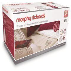 Morphy Richards 600014, Fleece, King Size, Dual Control, Under Blanket