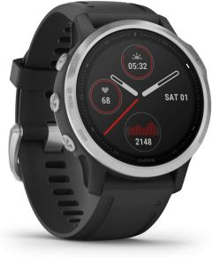 Garmin Fenix 6S Solar 49GAR0100215901, Smart Watch, Black & Silver