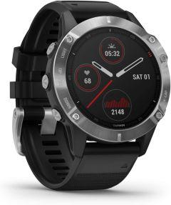 Garmin Fenix 6 Solar 49GAR0100215800, Smart Watch, Black & Silver