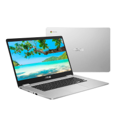 "ASUS C523NABR0067, 15.6"" 4GB RAM & 64GB Storage, Chromebook, Silver"
