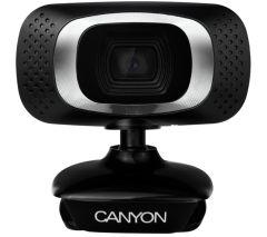 Canyon CNECWC3N, HD Webcam w/ Built-in Microphone, Black