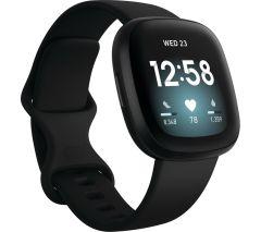 Fitbit 79FB511BKBK, Versa 3, Health & Fitness Tracker w/ Heart Rate Monitor & GPS, Black