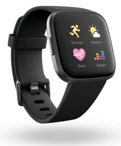 Fitbit 79FB507BKBK, Versa 2, SmartWatch with NFC, Black/Carbon