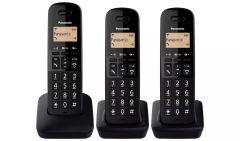 Panasonic TLB613TRI, Trio Cordless Telephone Set, Black