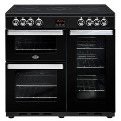 Belling 90EBLK Cook Centre Electric 90cm Black Range Cooker