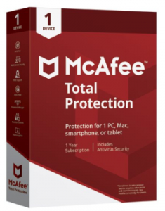 McAfee 72MTP00UNR1RAA, Total Protection Anti Virus for 1 Device