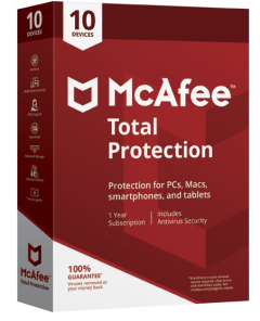 McAfee 72MTP00UNRXRAA, Total Protection Internet Security for 10 Devices