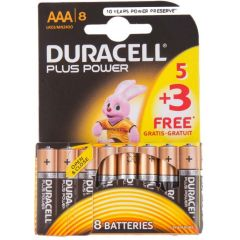 Duracell MN2400B5 5PK + 3 AAA Pack Batteries