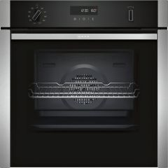 Neff B6ACH7HH0B, Slide&Hide, Built-In Electric Single Oven, Stainless Steel