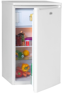 Belling BR98WH, 84.5 x 50cm, White, Under Counter Fridge with Freezer Compartment