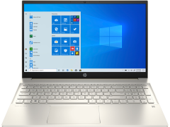 """HP 15EH0044NA, 15.6"""", 4GB/128GB, Touchscreen Laptop, Gold"""