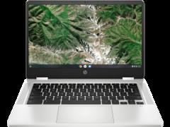 "HP 14ACA0005NA, 14"", x360, 4GB/64GB, Touchscreen Convertible Chromebook, Silver"