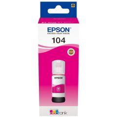 Epson 104 C13T00P340, EcoTank 65ml, 7500 Page Yield, Printer Ink, Magenta