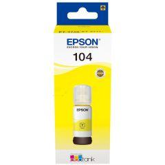 Epson 104 C13T00P440, 65ml, 7500 Page Yield, EcoTank Printer Ink, Yellow