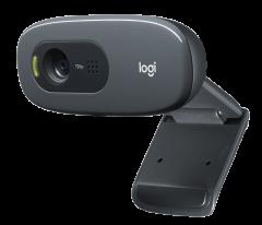 Logitech C270, HD 720p Webcam, Black