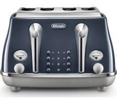 DeLonghi CTOC4003BL, Icona Capitals 4 Slice Toaster, Blue