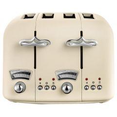 Delonghi CT04BG, 4 Slice Toaster, Beige