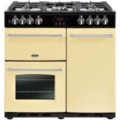 Belling FH90DFTCR 90cm Cook Centre Dual Fuel Cream Range Cooker