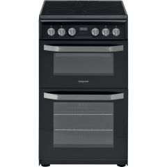 Hotpoint HD5V93CCB 50CM Electric Double Oven, Black