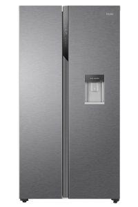 HAIER HSR3918EWPG, Total No Frost, American-Style Fridge Freezer, Silver