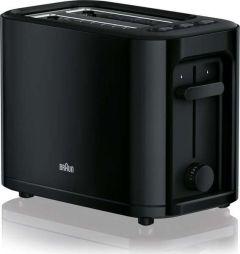 Braun HT3000BK, 2 Slice Toaster, Black