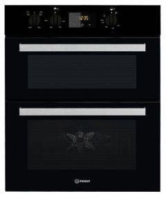Indesit IDU6340BL, Built Under, Double Oven, Black