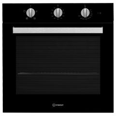 Indesit IFW6330BL, Manual, Built In Single Oven, Black