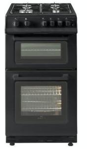 Belling FSG60TCBLKLPG, Twin Cavity, LPG, Gas, 60cm, Cooker, Black