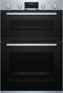 Bosch MBA5350S0B, Series 6 Built-in Double Oven, Black W/Steel
