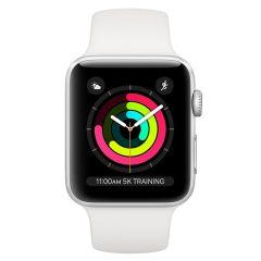 Apple MTEY2BA, 38mm, GPS, Watch Series 3, Silver/White