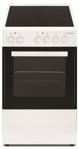 Powerpoint P05C1S1W, 50cm, Single Cavity, Ceramic Cooker, White