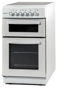 Powerpoint P05C2SWH, 50 cm, Double Cavity Ceramic Cooker, White