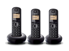Pansonic KXTGB213, Trio Digital Cordless Phones, Black