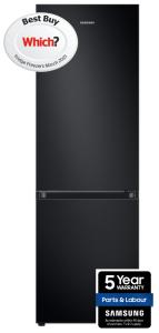 Samsung RB34T602EBN, 185 x 60cm, No Frost, Fridge Freezer, Black