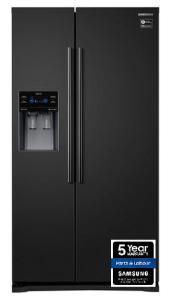 Samsung RS50N3413BC 2 Door, Side by Side, American Fridge Freezer, Black
