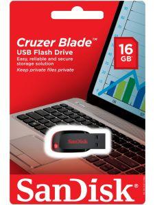 Sandisk SD16GBCZUSB2BK, USB 2.0, 16GB, Cruzer Blade