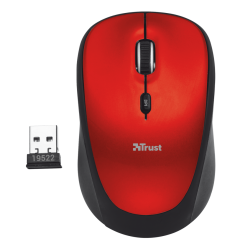 Trust 19522 Wireless Optical Mouse - Red