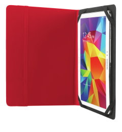 """Trust T20316, Primo Follio Case with Stand for 10"""", Red"""