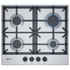 Neff T26DS49N0, 60cm, Gas Hob, Stainless Steel