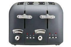DeLonghi CT04GY, Argento Silva, 4 Slice Toaster, Grey