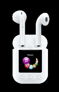 DENVER TWM850, MP4 Player W/ Wireless Earbuds W/ Charging Case, White