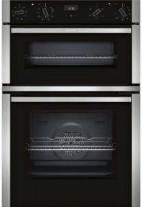 Neff U1ACE2HN0B Built-In Double Oven - Black/Steel Trim